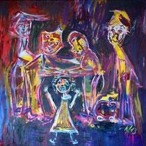 Die Gaffer 2013 Acryl auf Leinwand 125x125