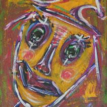 Gelber Clown   2012 Acryl auf Leinwand 50 X 60