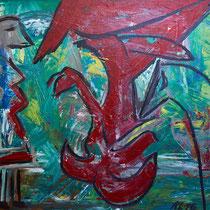 Vor-Höllchen 2016 Acryl auf Leinwand  90 x 70
