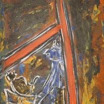 Geborgen  2014   Acryl auf Leinwand  65 x 140