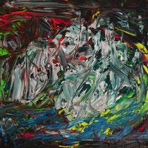 Winterschlaf 2016 Acryl auf Leinwand 90 x 70