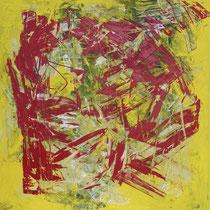 Der Kniefall 2009 Acryl auf Leinwand 100x100