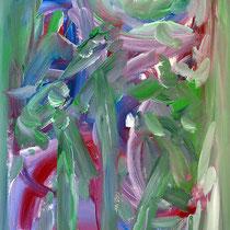 Schwertlilien 2007 Acryl auf Sperrholz 62 X 94
