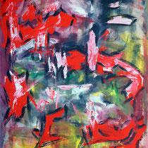 Verlierer I  2009 Acryl auf Leinwand 105 X 150