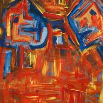 Gegenüber 2007 Acryl auf Leinwand 60x80