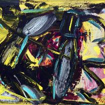 Kriegspfad 2007 Acryl auf Leinwand 50x40