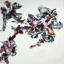 Zerstörung 2010 Acryl auf Leinwand 160x160