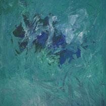 Der Schwan im See 2013  Acryl auf Leinwand 125 x 150