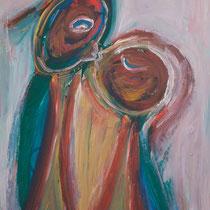 Kuss 2 2013 Acryl auf Sperrholz 70x100