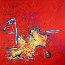 Das Huhn 2010 Acryl auf Leinwand 160x160