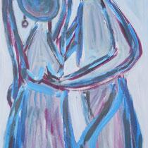 Es flattern die Gefühle 2014 Acryl auf Leinwand 65 X 150