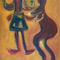 Rendevouz 2016 Acryl auf Leinwand  65 x 150
