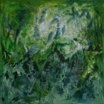 Grünland 2010 Acryl auf Leinwand 160x160