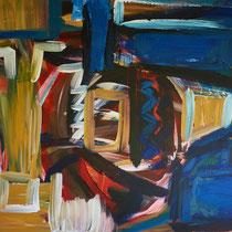 Absturz 2016 Acryl auf Leinwand  90 x 70
