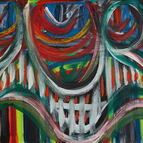 Unter Kontrolle  2016 Acryl auf Leinwand 100 x 60