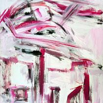 Unterm Schirm 2007 Acryl auf Leinwand 70 X 90