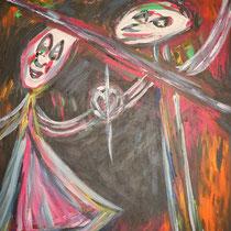 Verloren  2014  Acryl auf Leinwand  110 x 150