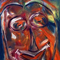 Der Clown 2009 Acryl auf Hartfaser 80x130