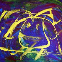 Die Heuschrecke 2015 Acryl auf Leinwand 90 x 70