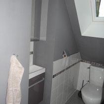 sanitaire à l'étage