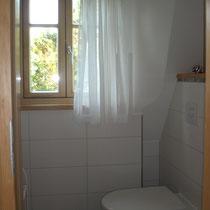 Das WC im Obergeschoss