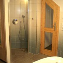 Dusche im Saunaraum