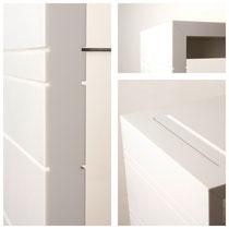typ-n Produkte / Pure – Rollbares Containermodul / Rollcontainer aus Mineralwerkstoff