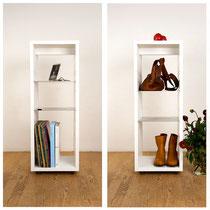 typ-n Produkte / Pure – Rollbares Containermodul / Rollcontainer aus Mineralwerkstoff / für den Wohnraum