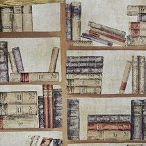 Books, ширина 280 см; состав: 43% хлопок, 57% полиэстер; плотность 240 г/м2; раппорт 64х140 см; направление рисунка по ширине
