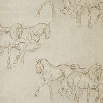 Horses 01, ширина 280 см; состав: 100% хлопок; плотность 239 г/м2; раппорт 32х60 см; направление рисунка по ширине