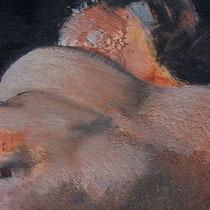 Sommeil 3 - huile sur carton 40 x 50 cm - détail