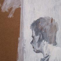 Acrylique et graphite sur bois