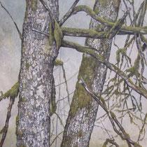 Le Foureperret - Huile sur carton marouflé sur médium - 80 x 80 cm - 2016