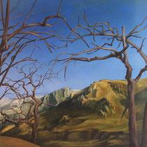 huile sur bois 100 x 100 2004