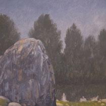 Régénérescence - Huile sur médium - 41,5 x 29,5 cm - 2017