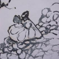 La cueillette 9 - Huile - 2014 - 42 x 21,7 cm - Didier Goguilly