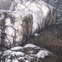 Fourpéret 2012 huile sur papier 75 x 110