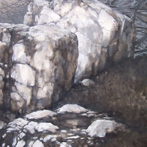 Gorges du Fourperet 2012 huile sur papier 75 x 110