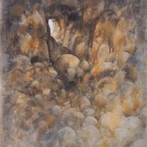 huile sur carton marouflé sur bois 120 x 80 cm