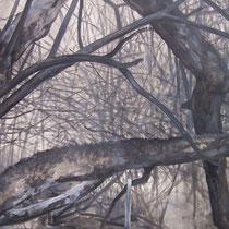 Fourpéret 2012 huile sur papier 75 x 110 (détail)