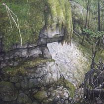 Foureperret - huile sur carton marouflé sur médium - 79,5 x 119,5 cm - 2016 (détail)