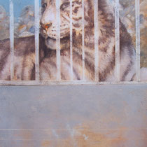 Série animaux - Tigre - huile sur carton 120 x 80 cm - 20.08.2008