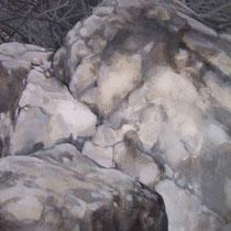 Gorges du Fourperet 2012 huile sur papier 75 x 110 (détail)