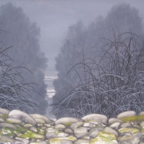 Régénérescence - Huile sur médium - 29,5 x 41,5 cm - 2017