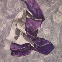 Acrylique sur papier marouflé sur bois 29,7 x 42 cm
