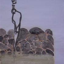 La cueillette 11 - Huile et brou de noix sur papier - 2013 - 42 x 21,7 cm - Didier Goguilly