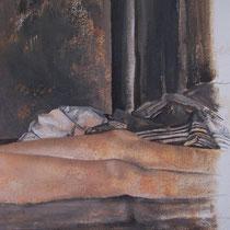 Sommeil 4 - huile sur carton 40 x 50 cm - détail