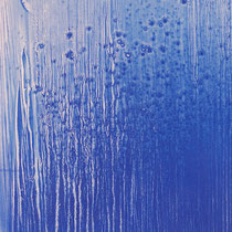 Chute d'eau - résine et pigments sur papier marouflé sur carton (détail)