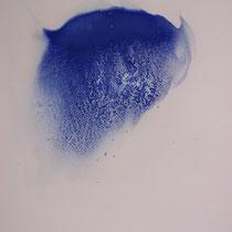 Remous du diable - Résine et pigments sur papier marouflé sur carton (détail)