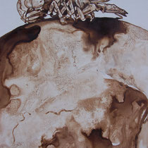 Brou de noix sur bois - 2016 (détail)